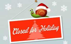 Bank holidays and annual leave over Christmas