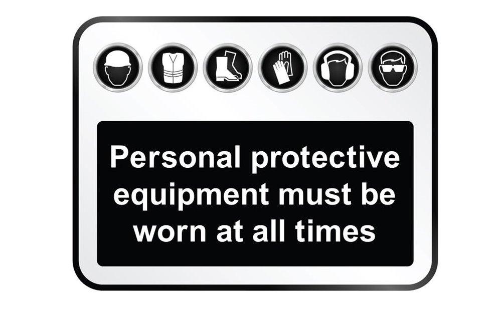 PPE warning