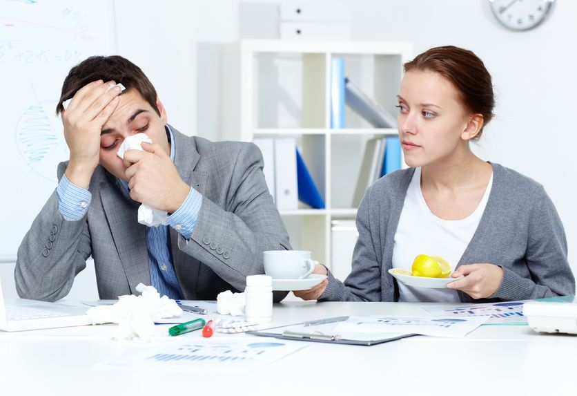 sickness absence at record low