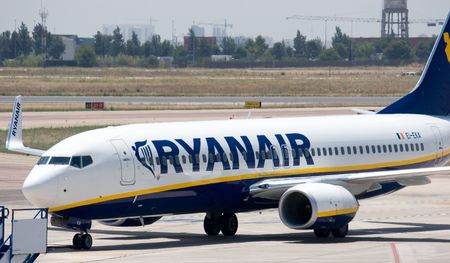 7241340 - valencia, spain - june 24: ryanair to open valencia base in november 2010 with two 737-800s and 10 new routes. a ryanair aircraft at the valencia airport on june 24, 2010 in valencia, spain.