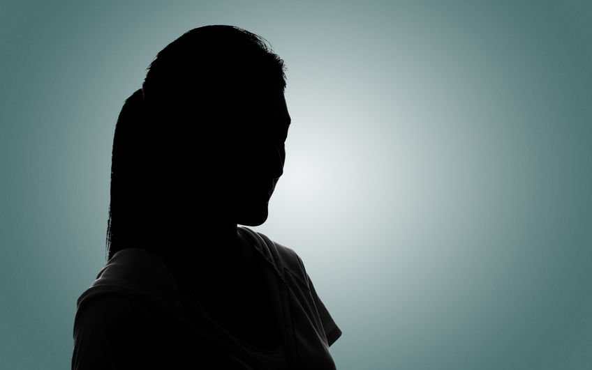 52914576 - silhouette woman portrait, concept of unknown, anonymous, unnamed etc.