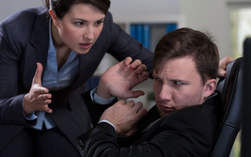 34041317 - young handsome man and workplace bullying
