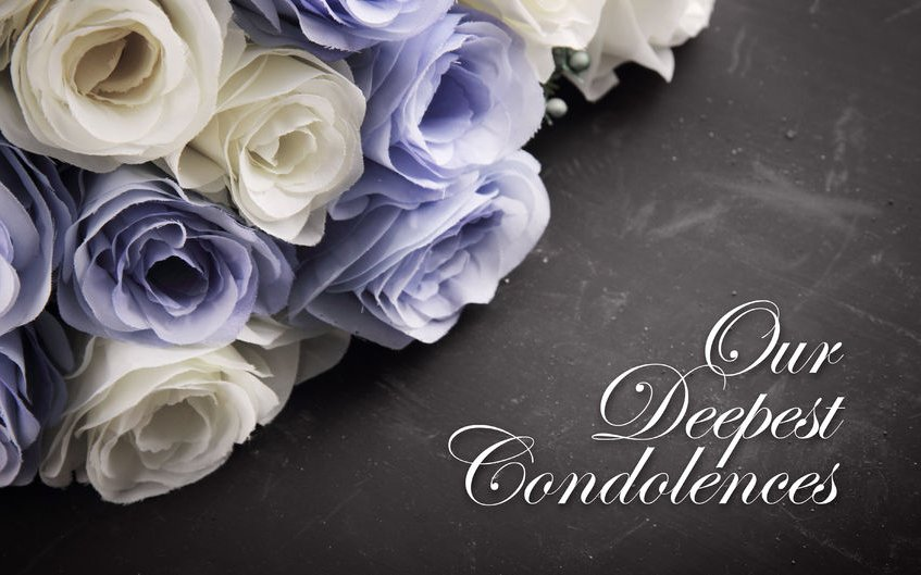 50156232 - a sympathetic condolence card design for someone mourning the death of the loved one