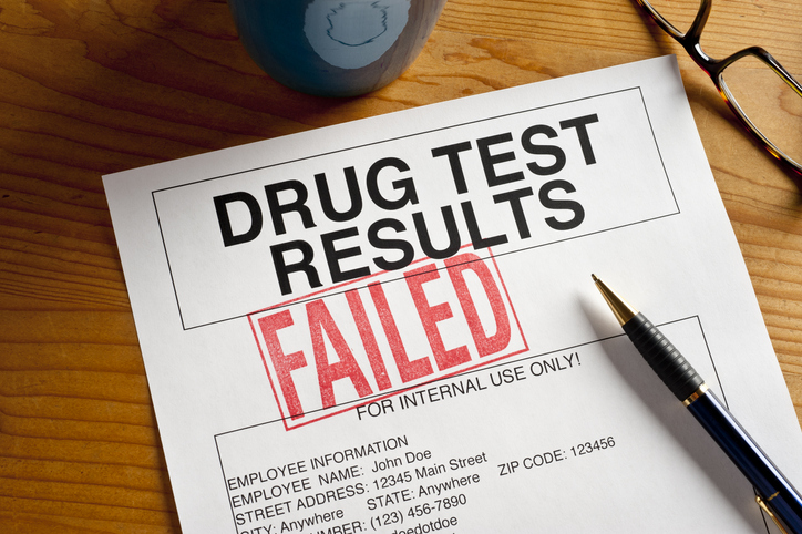 staff member fail drug test